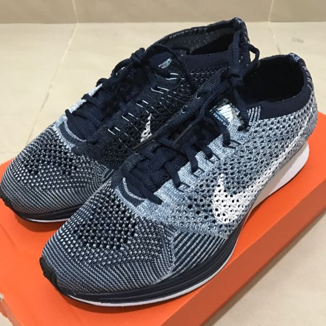 big sale 28796 ed3c7 Nike Flyknit Racer Blue Tint, Women s Fashion, Shoes on Carousell