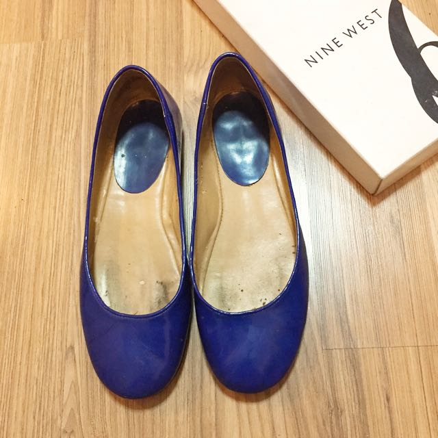 Nine West Blue Flats Size 37