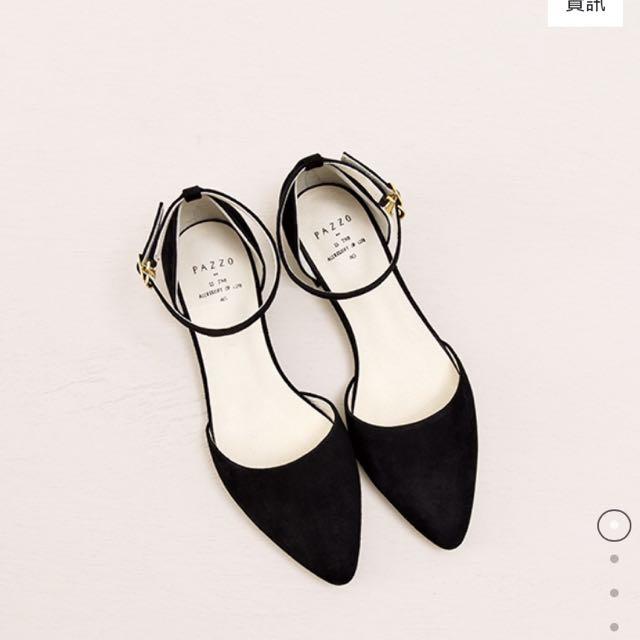 PAZZO)MIT舒適質感絨布繞環平底鞋