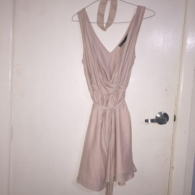 Pink Dress With Chocker