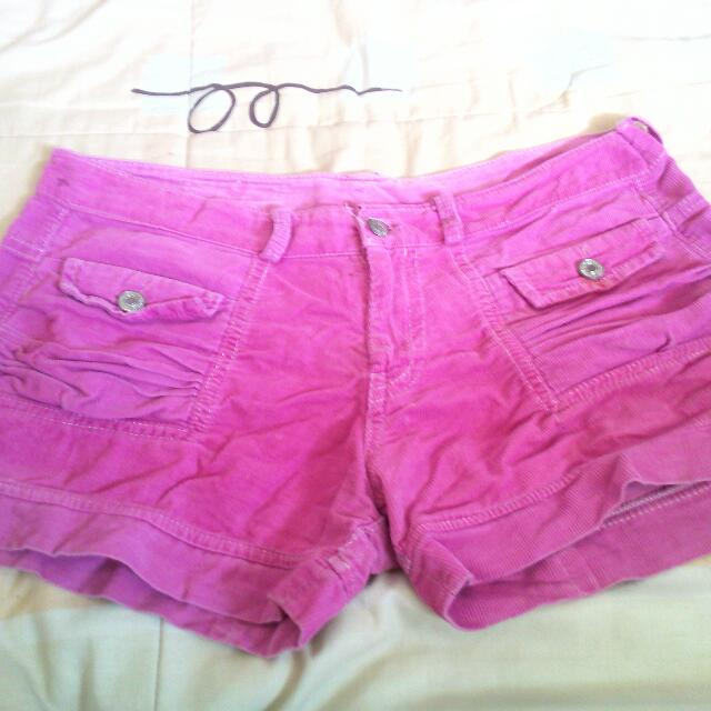 Pink Soda Soft Denim Short