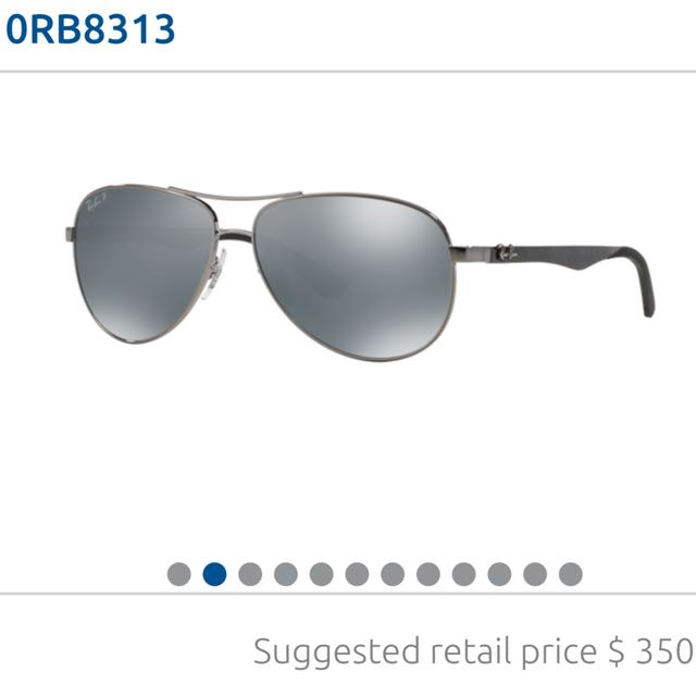Rayban Polarised Carbon Fibre Sunglasses