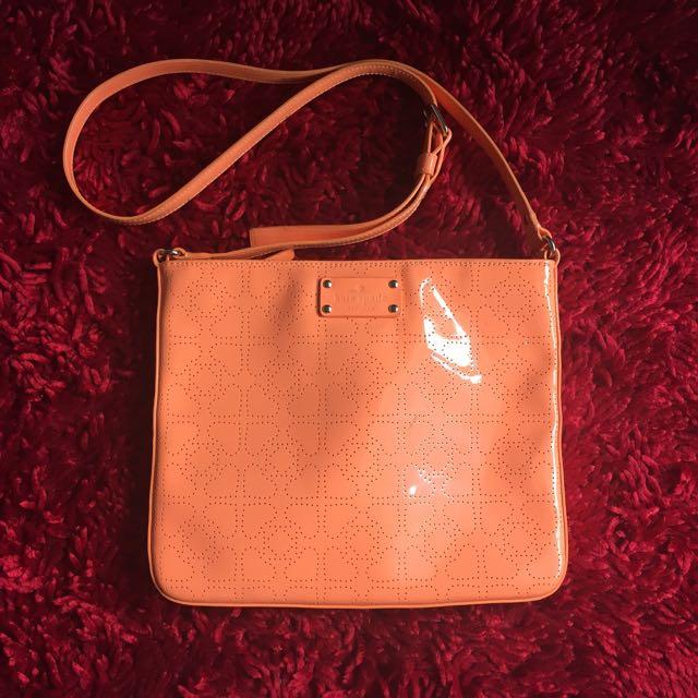 REPRICE!! Preloved Kate Spade Orange Sling Bag