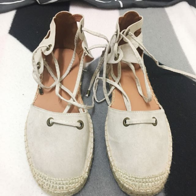 RUBI NUDE LACE UP SHOES