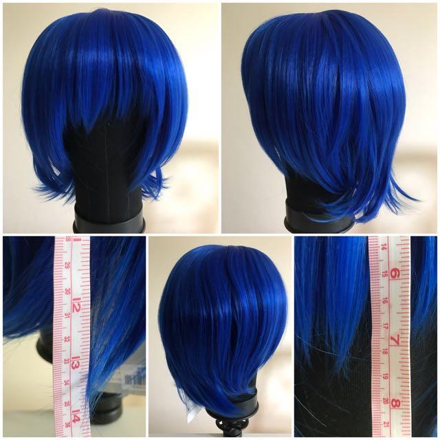 Short length dark blue wig