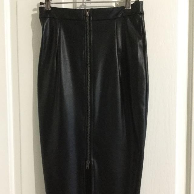 Showpo Leather Skirt