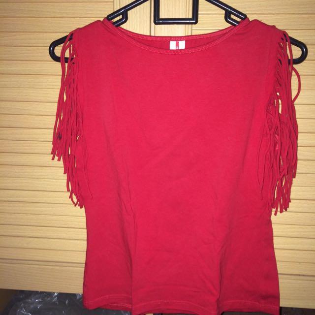 Sleeveless Fringe Shirt