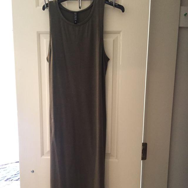 Slim Khaki Dress