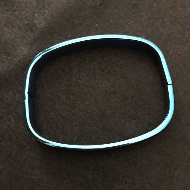 Stainless Blue Bangle