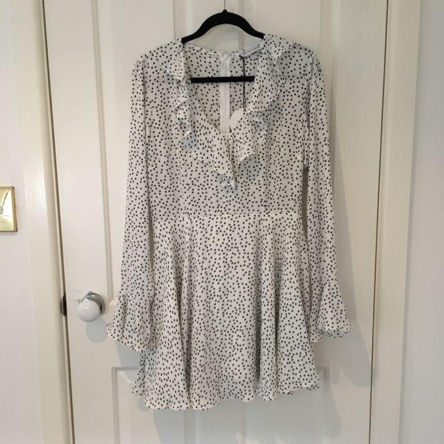 Starlight Ruffle Wrap Dress