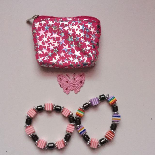 Starry Pouch + 2 Bracelets
