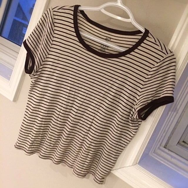 Striped Loose Crop Top