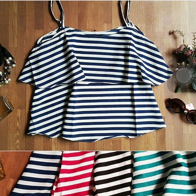 Stripes Red Blouse