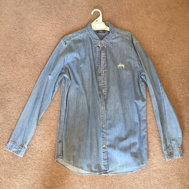 Stussy Denim Long Sleeve Shirt