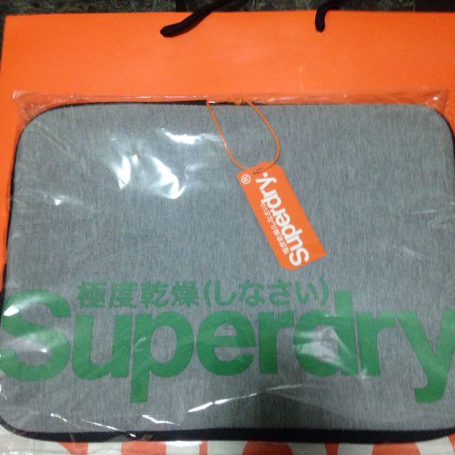 Superdry 灰綠 13吋電腦包
