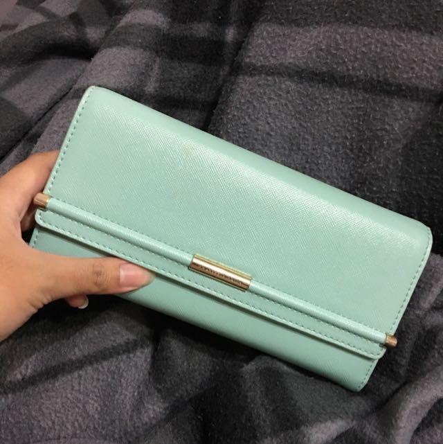 Teal/Pink Charles & Keith Wallet