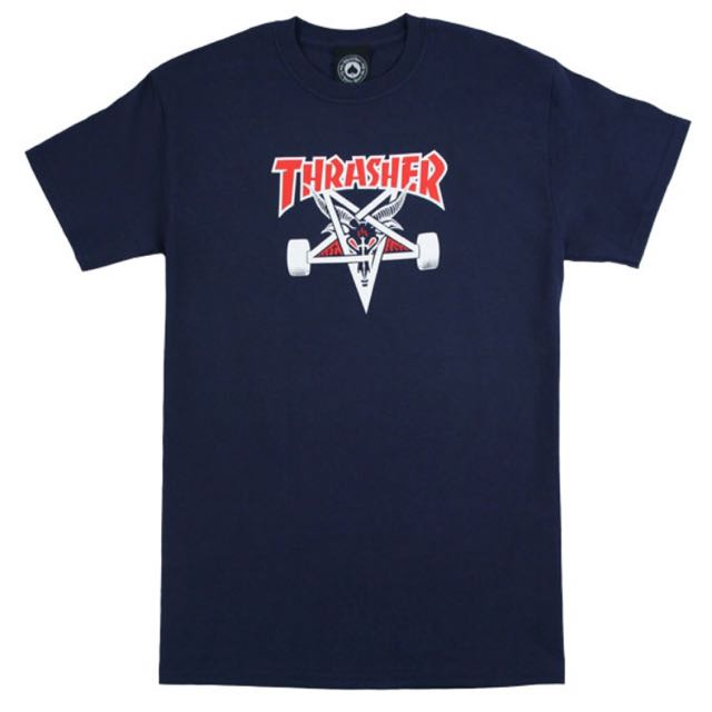 THRASHER NAVY BLUE T-SHIRT
