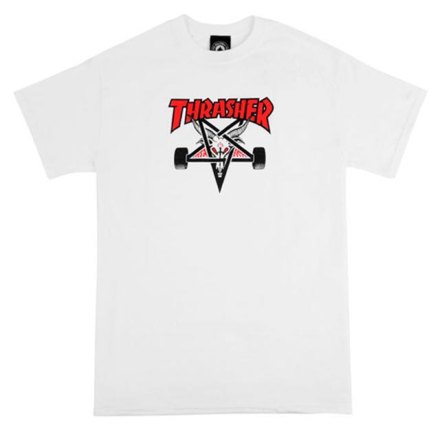 THRASHER WHITE GOAT T-SHIRT
