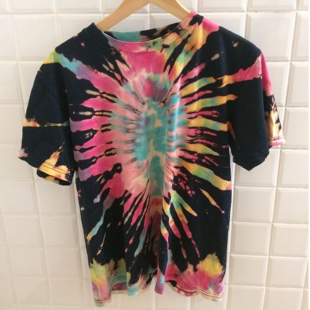 Tie dye hippy rainbow shirt
