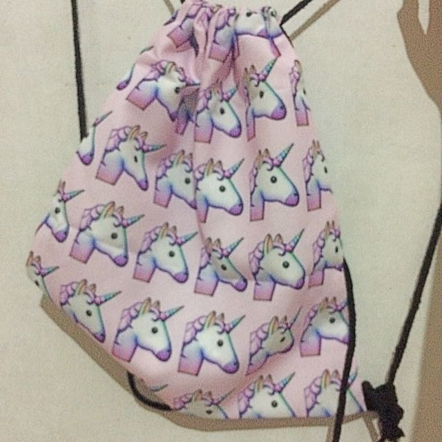 REPRICE UNICORN DRAWSTRING BACKPACK DRAWSTRING BAG TAS SERUT
