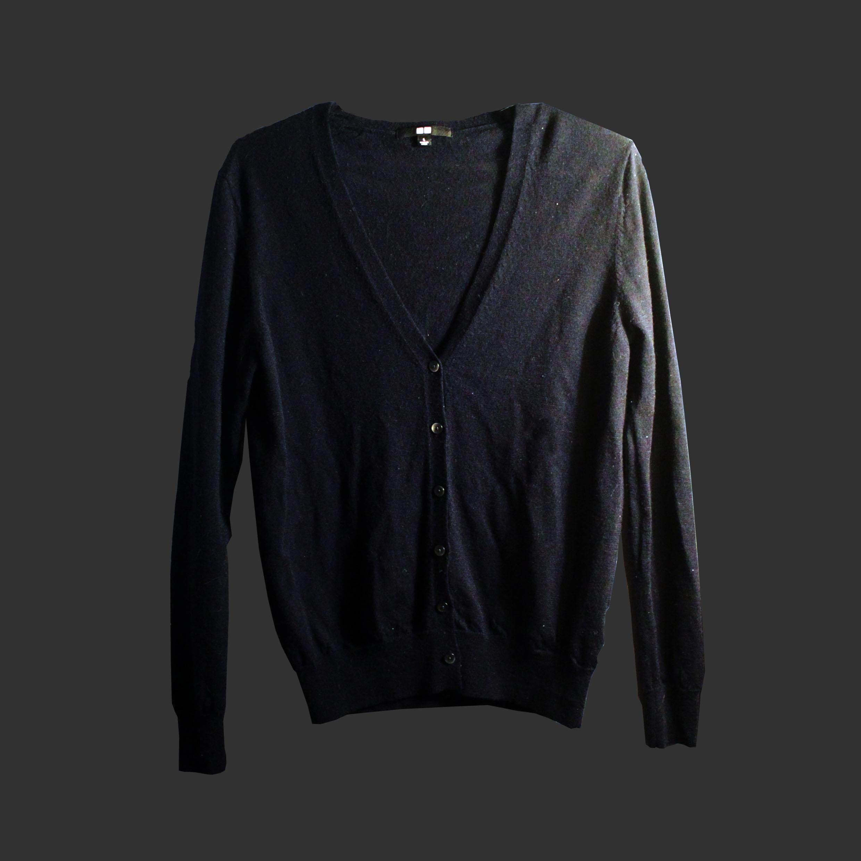 UNIQLO/經典黑色毛衣/男女皆可穿