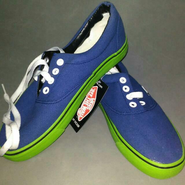 vans blue-green sneakers
