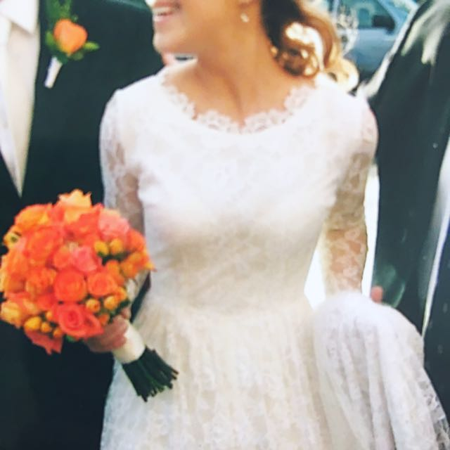 Wedding Dress 1950's Vintage Lace Kate Middleton Style Immaculate