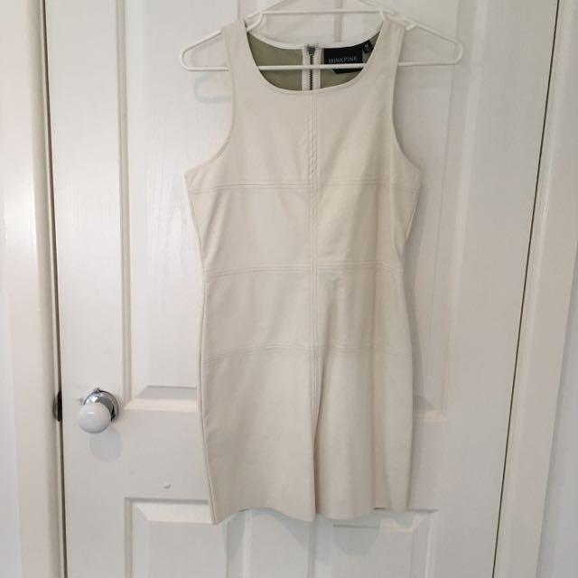 White PU Leather Dress