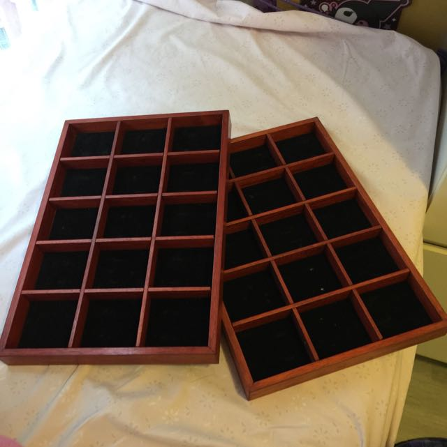 Wooden Display Trays