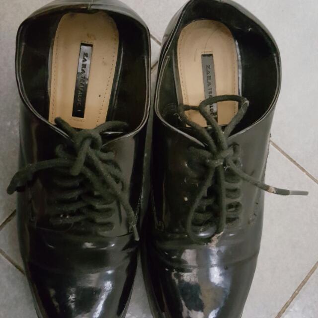 Zara Oxford Shoes Warna Hitam
