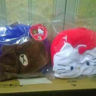7-11 LINE FRIENDS x Sanrio characters 情人節別注版攬頭攬頸枕!