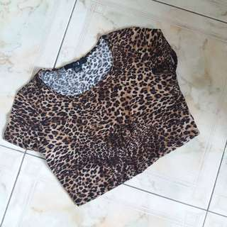 Forever 21 - Crop Top Leopard