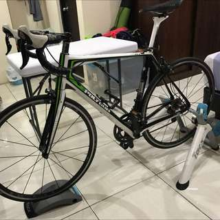 Sepeda Balap ( Road Bike ) Polygon Helios A7.0 700C  Carbon + TACX Trainer Flow Smart Edition