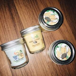 Set of 4 Mini Spring Bath and Body Works Candles