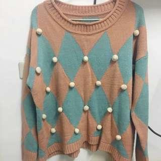 韓版 立體毛球針織毛衣