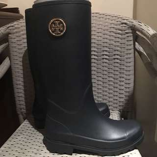 New Navy Tory Burch Rain Boots Size 8us