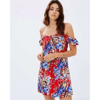 AUGUSTE THE LABEL  Muse Play Dress in Fire Engine Bloom
