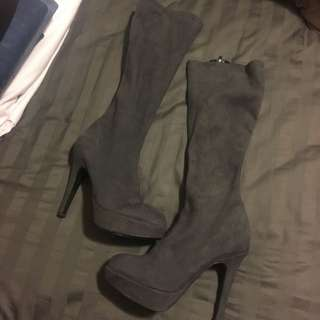 Grey Aldo Boots