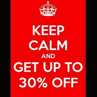 30% Off Sale!!!