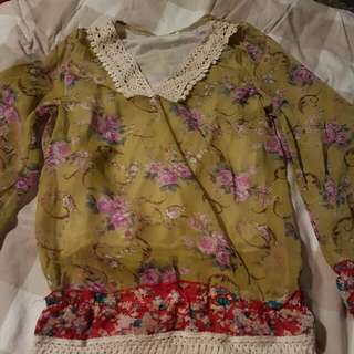 Yellow Flowery Top
