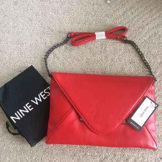 NEW red Envelope Purse Bag Nine West