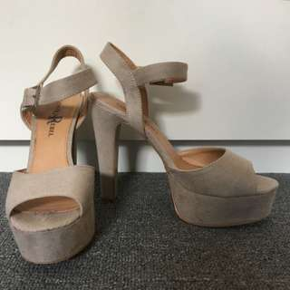Beige Heels - London Rebel