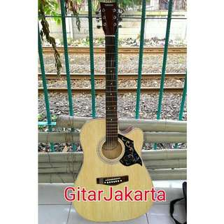 Gitar Akustik Natural Jumbo Buat Pemula Murah Jakarta
