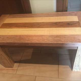 Rustic Handmade Recycled Coffee Table Oak Wood Side Table