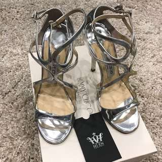JIMMY CHOO Silver High Heel Size 35.5