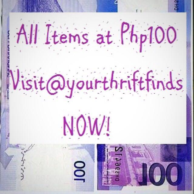 100 Pesos SALE