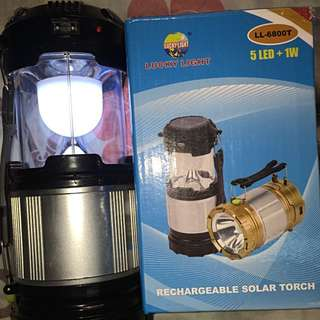 Rechargeable Solar Torch