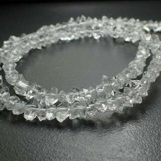 來自巴基斯坦的鑽石水晶項鍊/手鍊(天然礦石)