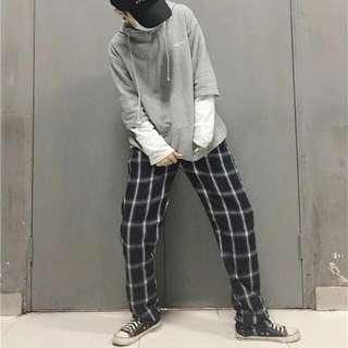 特價中原價680格子寬褲