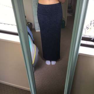 Long Navy Blue Skirt